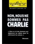 Non, nous ne sommes pas Charlie