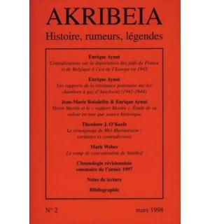 Akribeia, n° 2, octobre 1998