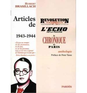 Articles de Révolution nationale, L'Écho de la France, La Chronique de Paris