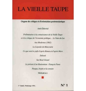 La Vieille Taupe, n°1, printemps 1995